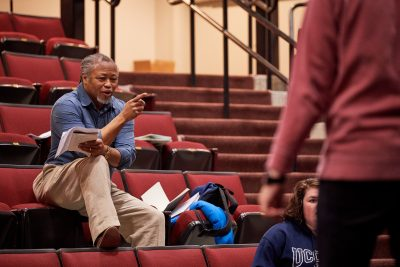 Arts Leadership and Cultural Management Online Graduate Certificate: Michael Bradford, UConn Faculty, working with students